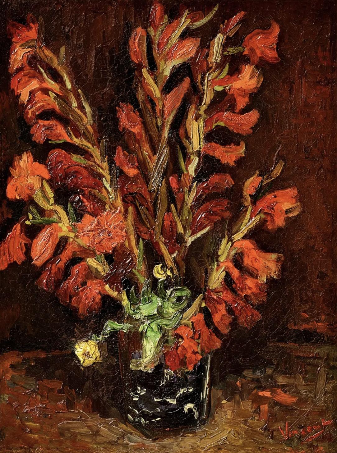 Van Gogh's Nature Morte: Vase aux Glaïeuls